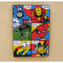 Cuadro Avengers - Hulk Ironman Thor Spiderman Wolverin Ameri