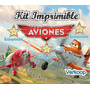 Kit Imprimible Aviones + Candy Bar Fiesta
