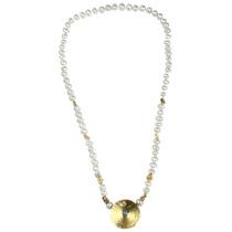 Collar De Perlas Y Oro 18k Con Broche