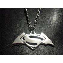 100% El Mejor Dije Superman Vs Batman Acero Inoxidable 316l