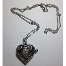 Collar Reloj Para Pendiente, Forma De Corazon X San Valentin