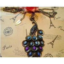 Madre Mujer Moda Vintage Cadena+dije Collar Pavo Real