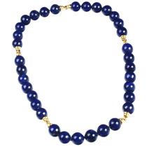 Collar Cadena Lapislázuli Y Oro 18k Jps