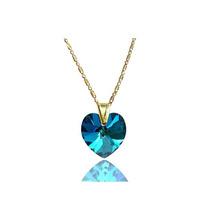 Collar Mujer Corazon Bermuda Blue Swarovski Elements