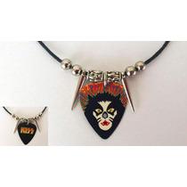 Collar Reversible De Uña De Guitarra Kiss
