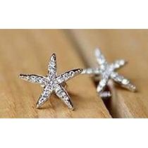 Estrella Set Collar + Aretes + Anillo Cristales Con Caja