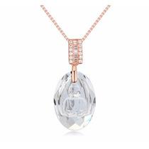 Collar Enchapado En Oro De 18k Con Finos Cristales Buda