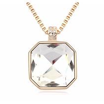 Collar Enchapado En Oro De 18k Y Fino Cristal