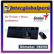 Kit Teclado + Mouse Wireless Genius Slimstar I8050