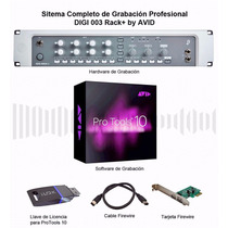 Protools 10 + Interface De Audio Digi 003 Rack+