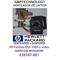 Ventilador + Disipador Laptop Cpu Fan Hp Pavilion Dv5-1000