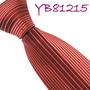 Corbata Diseño Exclusivo Rayas Centro Color Granate. M-00126