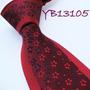 Corbata, Color Vino Con Diseños De Flores M-374