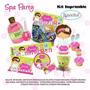 Fiesta Invitación 3 Kit Imprimible Spa Party Niñas