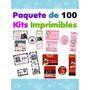 Paquete De 100 Kits Imprimibles Para Fiestas O Eventos