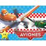 Kit Imprimible 2 Aviones Disney Diseñá Tarjetas, Cumples