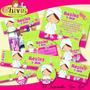 Kit Spa Girl Cumpleaños Invitaciones Tarjetas Baby Nena