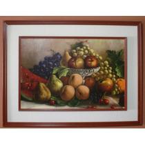 Cuadro Grande Sala Comedor Frutas Machupicchu Lineas De Nazc