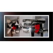 Cuadros Negro, Blanco, Rojo, Grises Estilo Moderno