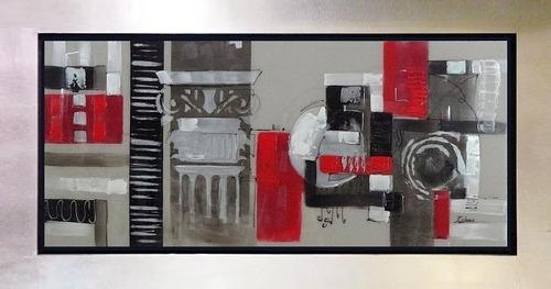 Cuadros negro blanco rojo grises estilo moderno cuadros - Cuadros estilo moderno ...