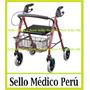 Andador Ortopédico Con Asiento Frenos Y Canastilla Importado