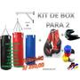 Set De Boxeo Completo Saco De Box Guantes Vendas Soporte Cad