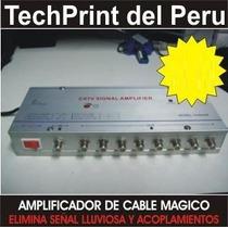 Eliminador Lluvia Amplificador X 8 Salidas Tv Cable Magico