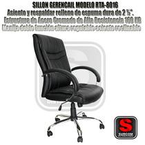 Sillon Gerencial Mod Rta 8016 Cromado Reclinable Giratorio