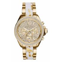 Reloj Michael Kors Mk6157 Collection Wren Dorado Nuevo Caja