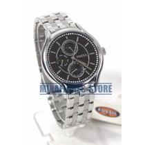 Reloj Fossil Bq1772 Acero Dial Negro Con Funciones Para Dama