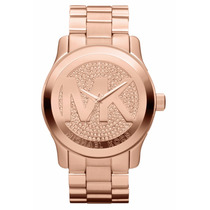Reloj Michael Kors Mk5661 Cronógrafo De Dama Rosa Dorado
