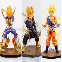 3 Muñecos,figuras Accion Dragon Ball Z(goku,vegeta,trunks)