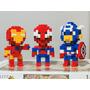 Iron Man Spiderman Capitan America Modelo De Lego 500 Piezas