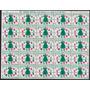 Pliego De 100 Estampillas Viñetas De Navidad Usa 1969
