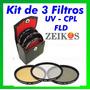 Kit De Filtros Uv Polarizador 52/55/58mm P/ Canon Sony Nikon