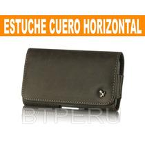 Estuche Cuero Horizontal Xperia Htc Sony Z1 Z Note 2 3 Nokia