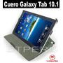 Estuche De Cuero Para Samsung Galaxy Tab 10.1