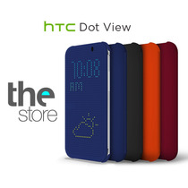 Htc One M8 Case Funda Dot View Oem Excelente Calidad