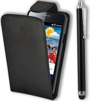 Estuche Funda Samsung Galaxy S2 I9100+stylus+ Film Negro