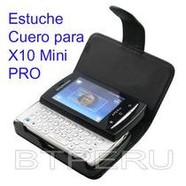 Estuche Cuero Sony Ericsson Xperia X10 Mini Pro Funda