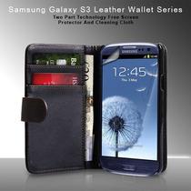Estuche Galaxy S3 Tarjetero+ Cargador Auto+stylus+film Prot