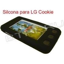 Funda Silicona Protector Skin Celular Lg Kp500 Kp570 Cookie