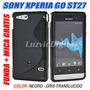 Funda Estuche Protector Tpu Gel + Mica Sony Xperia Go St27i