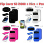Flip Cover Samsung Galaxy S3 I9300 + Mica + Pen Doble Visor