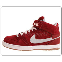 Nike Zoom Mogan Mid 2 6.0 Red Suede Classic Mens Casual