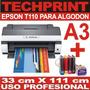 Impresora Algodon A3 Profesional + Sistema Continuo Polofoto