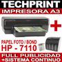Impresora A3 Hp 7110 + Sistema Continuo Profesional Garantia