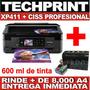 Multifuncion Epson Xp411 Xp401+ Sistema Continuo Profesional