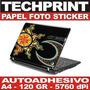 Papel Fotografico A4 Autoadhesivo Skin Protector Laptop Cpu