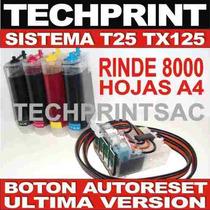 Nuevo Sistema Continuo T25 Tx125 Chip Version Autoreset